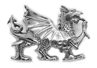 Small Welsh Dragon Ornament Pewter Figurine (Made in UK)