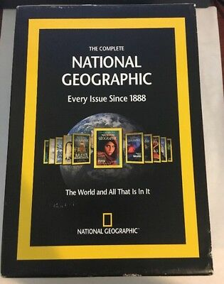 Complete National Geographic Every Issue Since 1888 Dvd-Rom Set Windows/Mac READ