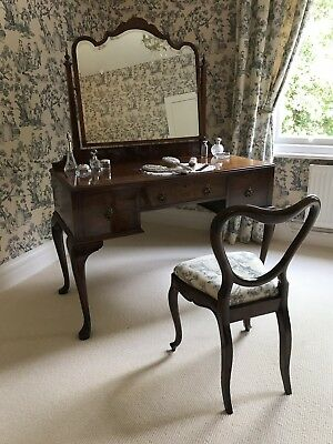 Antique Queen Anne Style Dressing Table with Mirror by Waring and Gillow Ltd