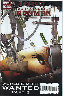 The Invincible IRON MAN # 10 1st RESCUE - PEPPER POTTS NM Variant