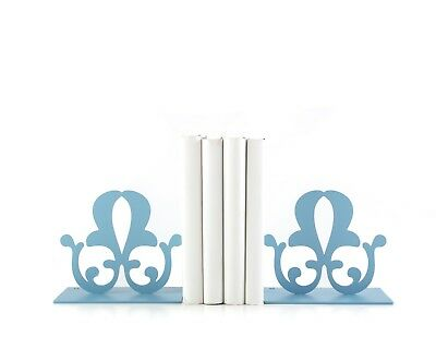 Atelier Article - Gift Steel bookends - French Flowers (Aqua)