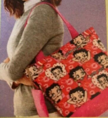 BETTY BOOP Pink Tote Purse Cosmetic Key Handbag ~ BRAND NEW!