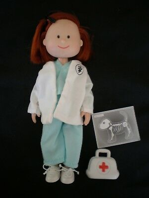 """Madeline 8"""" Doll Doctor Veterinarian Scrubs Medical Bag Jacket Shoes X-Ray Exc!!"""