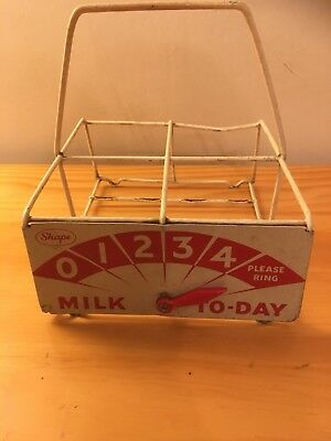 Vintage Shape Milk Carrier Coated Steel Retro