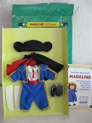 """Madeline 8"""" Doll Bnib Pepito Toro! Matador Outfit Suit Hat Cape Shoes Socks New"""