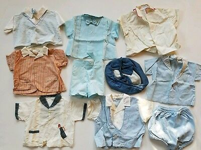 VINTAGE 1950s Baby Boy Clothes Hat LOT - Nanette, Avondale's, Pemay, Togs