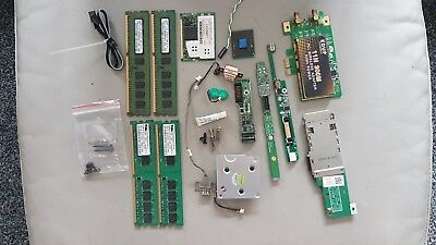 job lot computer items; RAM,leads,fan,WIRELESS ADAPTER,dvd writers,usb speakers