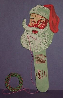 """1950-1960's VINTAGE SANTA COCA COLA TOSS GAME FROM BOTTLING CO. """"NEAR MINT"""""""