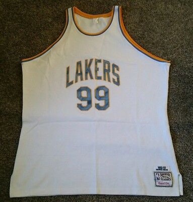 f4a3e244b Mitchell Ness M N Minneapolis MPLS Lakers George Mikan Authentic Jersey 56  3XL