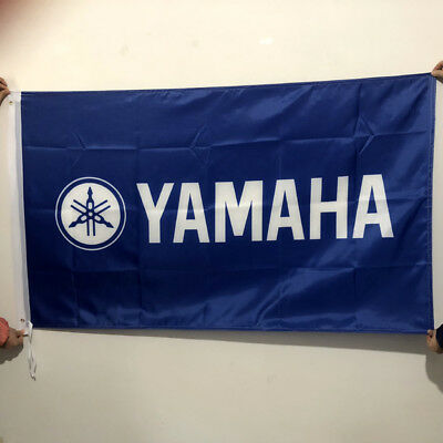Banner Flag for Yamaha Flag 3x5 FT Wall Banner Shop Show Decor Blue2Grommets/203