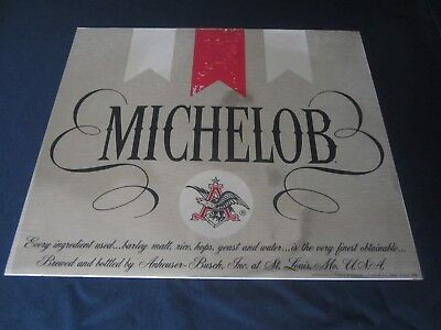 "Vtg MICHELOB Beer Alcohol Bar DECAL Diecut GOLD FOIL STICKER Large 17"" x 15"" CAN"