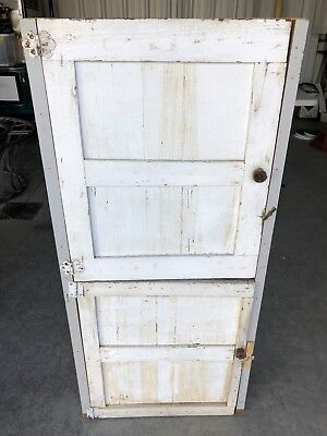 Rustic Primitive Cupboard Cabinet Shabby Chic white wood