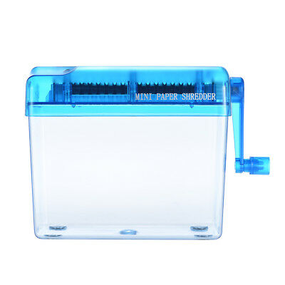 Manual Hand Paper Shredder, For Home & Office, Portable, Mini, Document Cutter