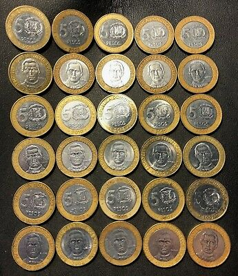 Old Dominican Republic Coin Lot 30 Excellent Bi Metal Coins N2