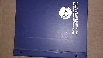 Rheem air conditioning technical training manuals complete set great shape