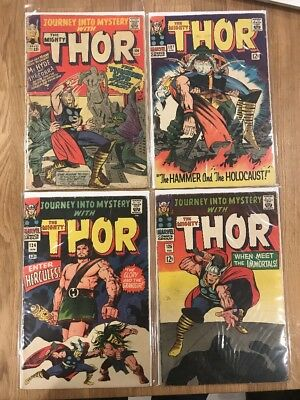 Journey into Mystery Thor #106, 124, 125, 127 - Lower Grade Reader Lot 19