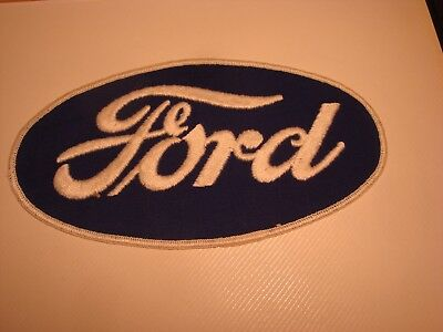 """FORD Vintage Blue Oval Logo Collectible Embroidered Patch New 7.5"""" x 4"""""""