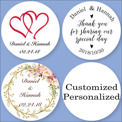 100PCS Personalized Wedding Invitations Stickers Candy Favor Boxes Bottle Labels