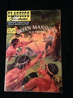 Green Mansions, Classics Illustrated, #90, HRN 89, 1st Printing, 12/51