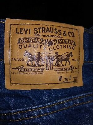 Vintage Levis #517 Orange Tab Men's Jeans 38 X 29 Made In Usa Perfect
