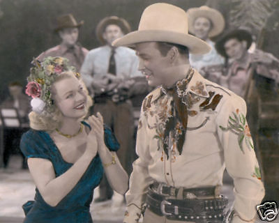 """Dale Evans Roy Rogers Roll On Texas Moon 1946 8X10"""" Hand Color Tinted Photograph"""