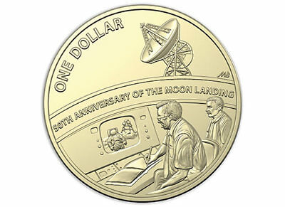 $1 one dollar coin MOON LANDING 50th year - 2019 - uncirculated X mint set UNC