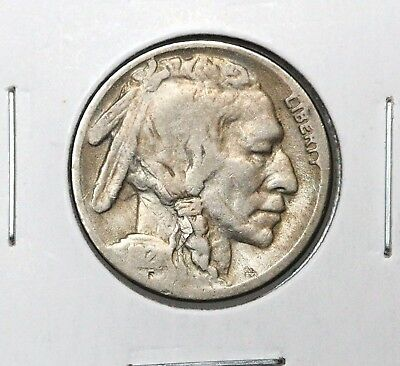 1921-S 5C Buffalo Nickel Vg Key Date Super Original Lamination Error!!