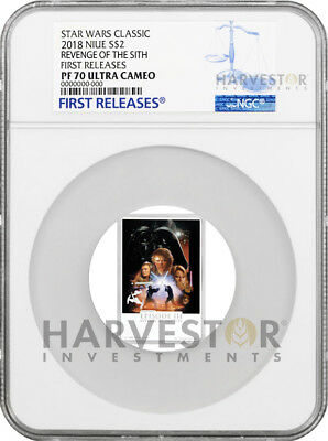 2018 Star Wars: Revenge Of The Sith Poster Coin - Ngc Pf70 First Releases