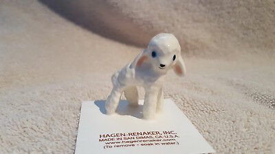 Hagen Renaker Woolly Lamb Figurine Miniature Collect New Free Shipping 00351