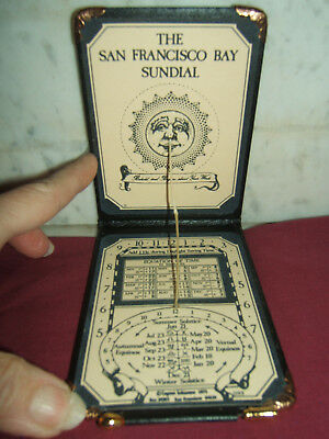 Pocket Sundial Made By San Francisco Bay-Vintage-Never Used