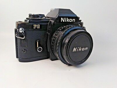 Nikon FG Electronically Controlled 35 mm SLR camera bundle with equipment