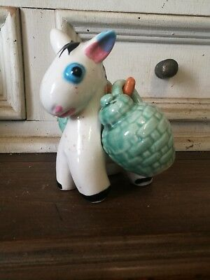 Vintage salt and pepper shakers. Donkey!