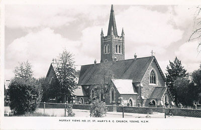 YOUNG, NSW. Real Photo Postcard. St. MARY'S R.C. CHURCH.  Murray No.27.