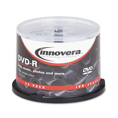 Innovera® DVD-R Discs, Hub Printable, 4.7GB, 16x, Spindle, Matte  686024468301