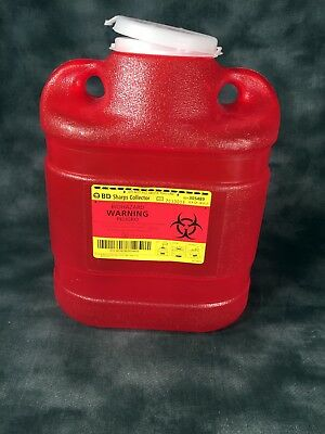 Bd Sharps Infectious Waste Medical Disposal Container  6.9Qt - 6.6L Tattoo