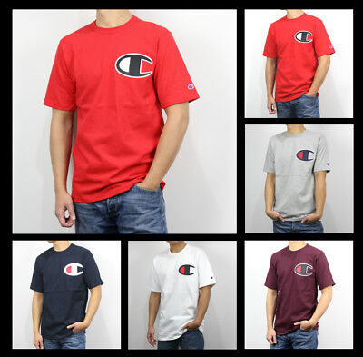 c46bc8081d New Champion Life Men Graphic Tee Big C Applique Logo Tee Shirt Heritage  Size