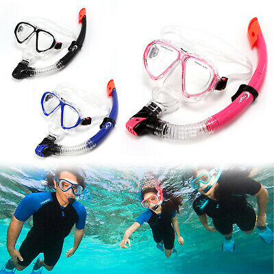 Adult Swimming Mask Surface Diving Snorkel Scuba Anti-fog Goggles