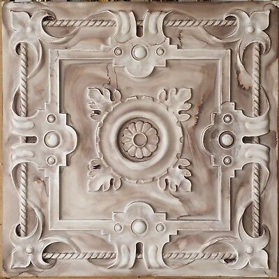 Ceiling board Faux tin oil painted brown bar decor wall panel 10tile/lot PL29