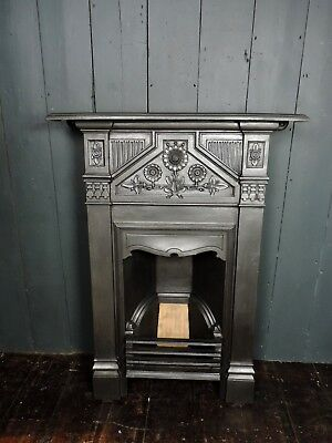 Antique Victorian Cast Iron Combination Fireplace **2 available** (HB 286)