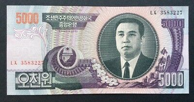 Genuine 2006 Korea 5000 Wons World Bank Note Unc Scarce