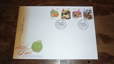 2014 Hong Kong Stamp Issue Fdc, Local Food Malaysia Joint Issue Set Of 4 Stamps