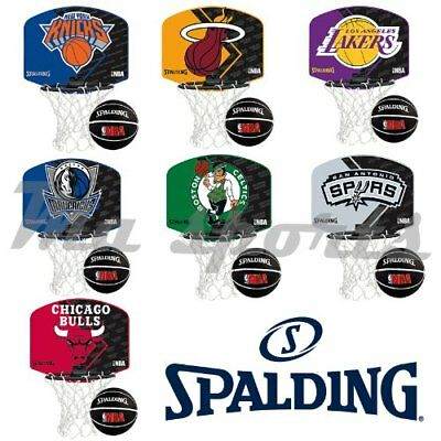 New Spalding NBA Team Mini Portable Basketball Hoop Set - Xmas Gift For Kids