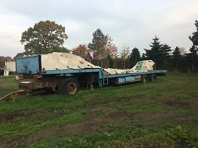step frame trailer Artic dolly bale low loader