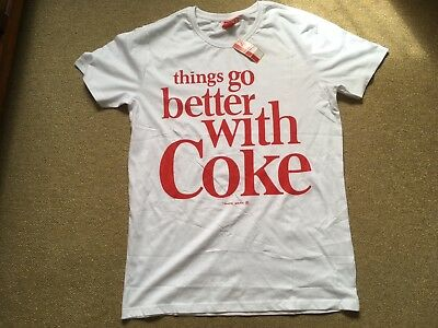 Brand New Official Coca Cola Things Go Better With Coke Men's XL T Shirt 40""