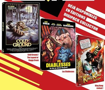 "PACK 3 DVD NF ""COLD GROUND / LES DIABLESSES / KING KONG REVIENT"" 4 films horreur"