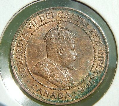 Canada 1 Cent (Large) 1906 UNC Awesome Toned & Lustrous Coin!