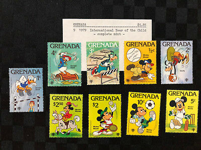 9 x 1979 Grenada stamps - International Year of the Child