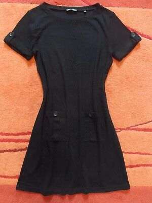 Cos Kleid Gr L 40 Baumwolle Wolle Strickkleid Etuikleid Casual