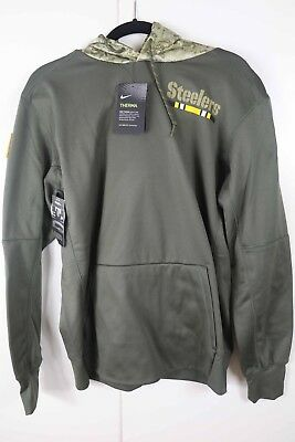 half off e750c 1d8a0 PITTSBURGH STEELERS SALUTE to Service Therma Fit Hoodie 2018 ...