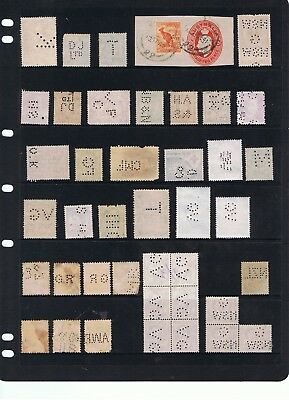 Selection Of Private Perfins On Mostly Pre-Decimal Stamps.